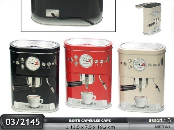 BOITE A CAPSULES CAFE