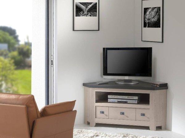 MEUBLE TV WHITNEY 100 % CHÊNE MASSIF