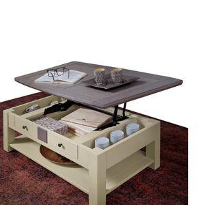 MAGELLAN TABLE BASSE DINETTE, PLATEAU RELEVANT