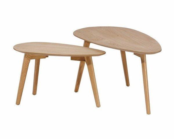 NATURA TABLES BASSES GIGOGNES - CHÊNE NATUREL