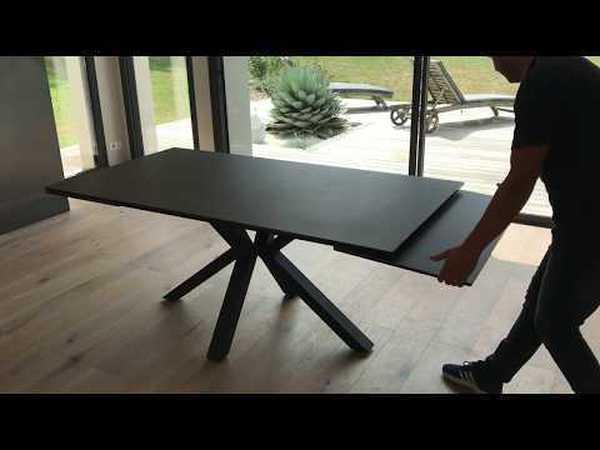 TABLE CÉRAMIQUE 2 ALLONGES RÉF : 700902
