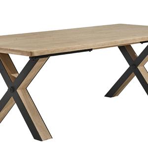 HUDSON TABLE PIED X BOIS MÉTAL
