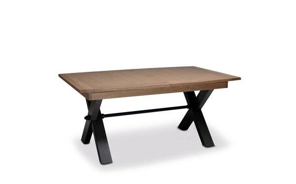 MAGELLAN TABLE PIED X DESSUS ET ALLONGES CÉRAMIQUE