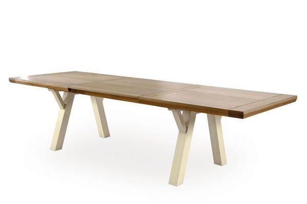 TABLE RECTANGULAIRE TRÉTEAUX ROMANCE 210 X 100