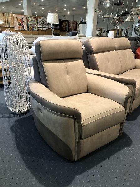 -30% Canapé + fauteuil relax VIOLETTE